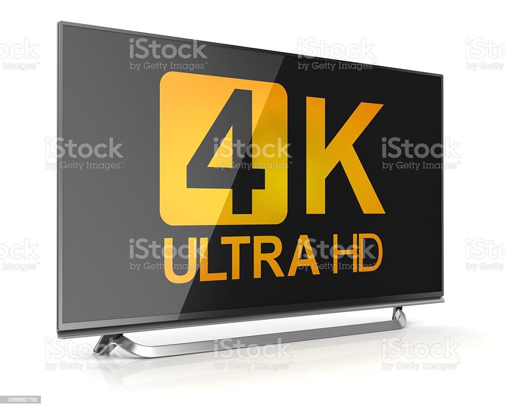 4K ultra hd tv stock photo