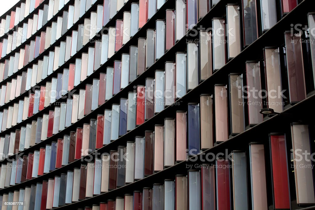 Ultra Modern Building Face stock photo