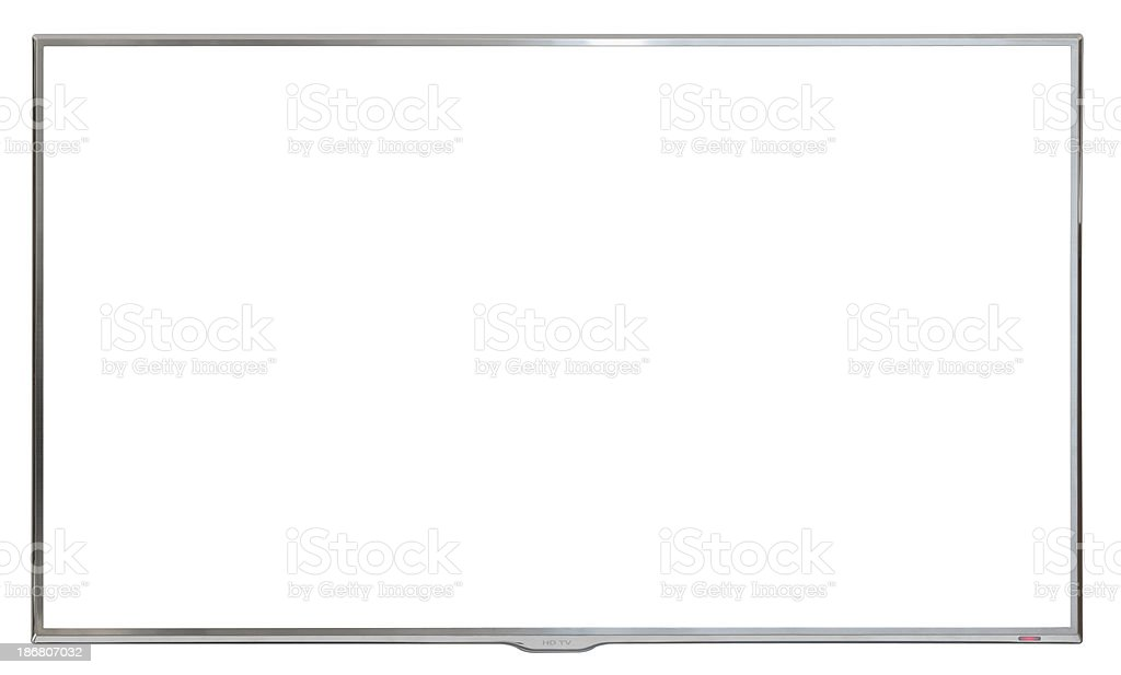 ultra modern High Definition wall mounted TV stock photo