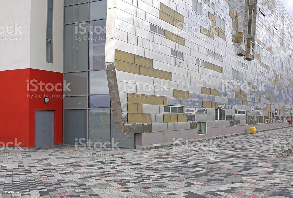 ultra modern university building stock photo
