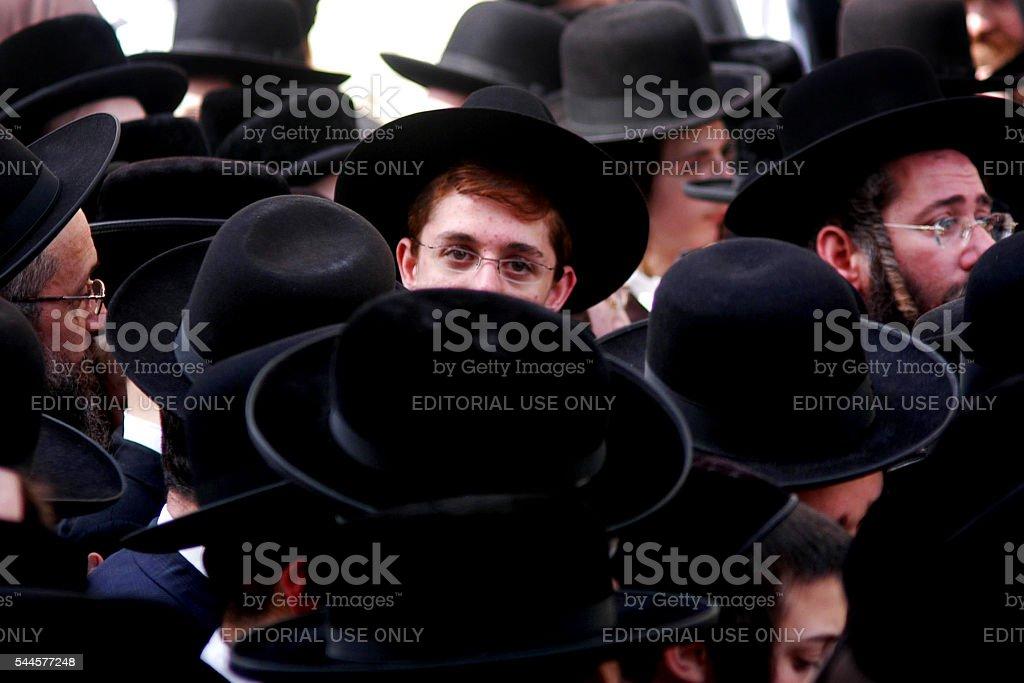 Ultra Orthodox Jewish Men stock photo