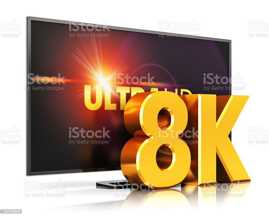 8K UltraHD TV technology stock photo