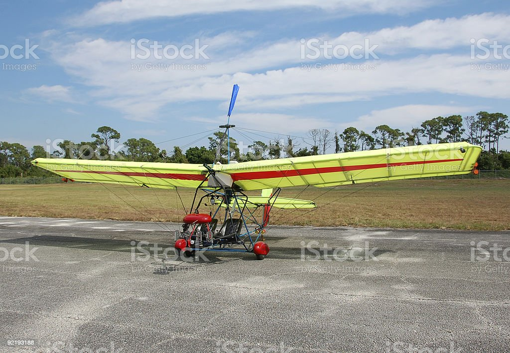 Ultralight airplane on the ground royalty-free stock photo