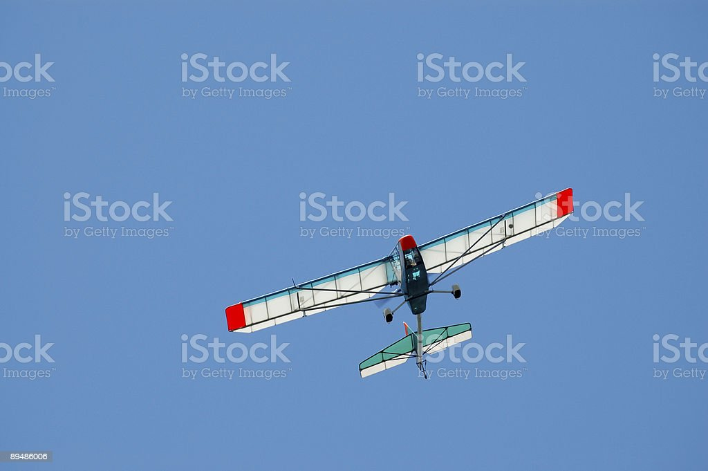 Ultralight Airplane stock photo