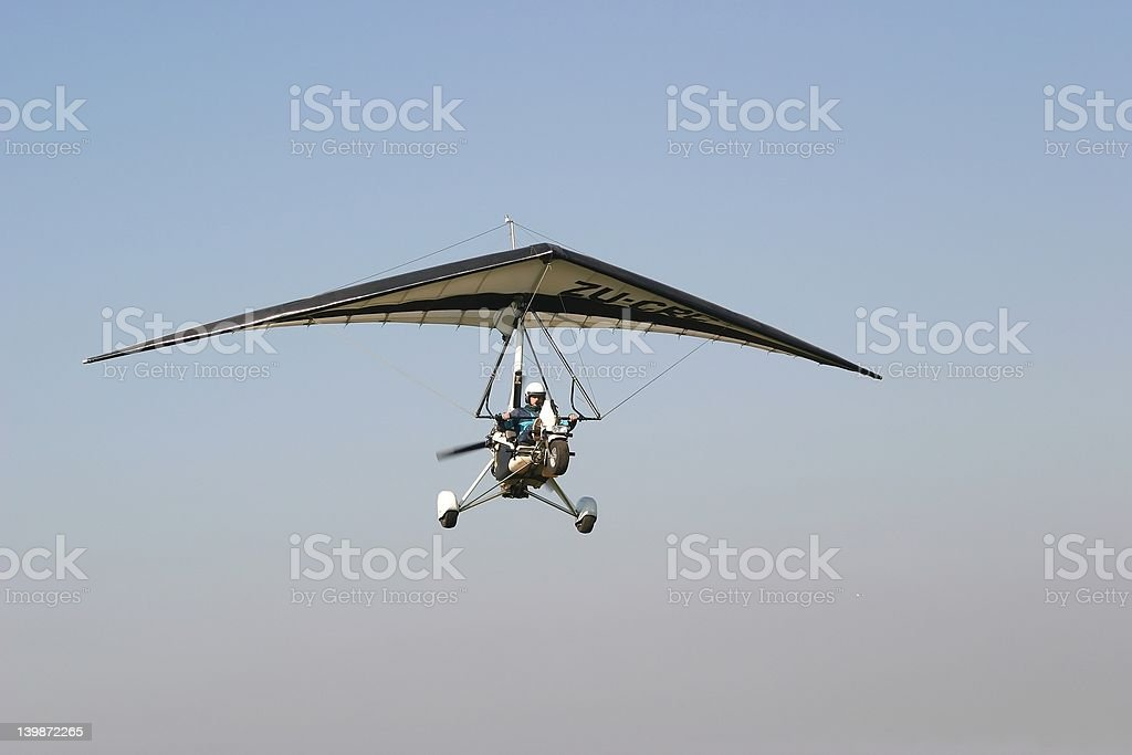 Ultralight landing stock photo