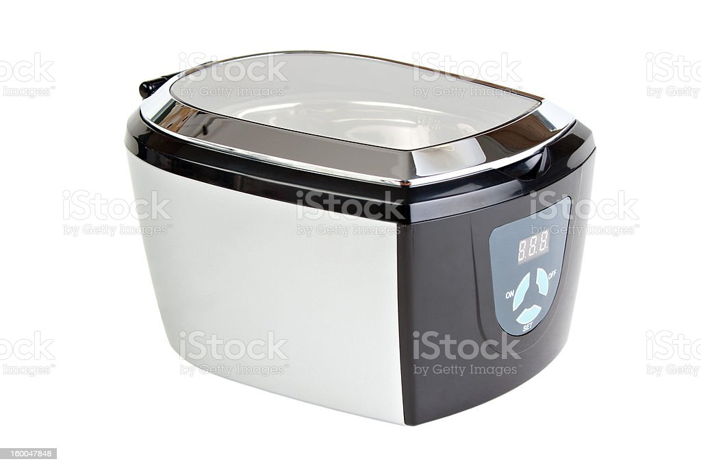 Ultrasonic cleaner royalty-free stock photo