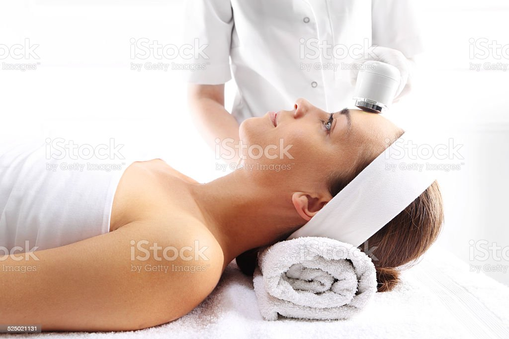 Ultrasound beauty treatment stock photo