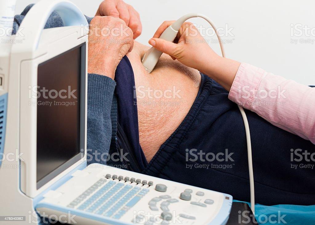 Ultrasound Examination stock photo