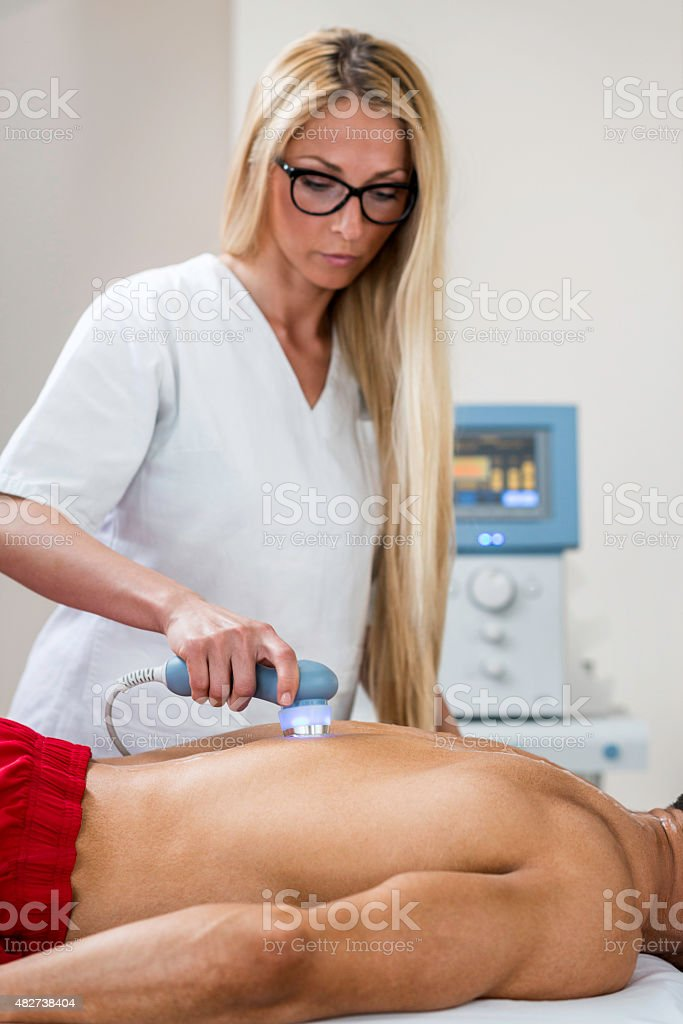 Ultrasound therapy stock photo