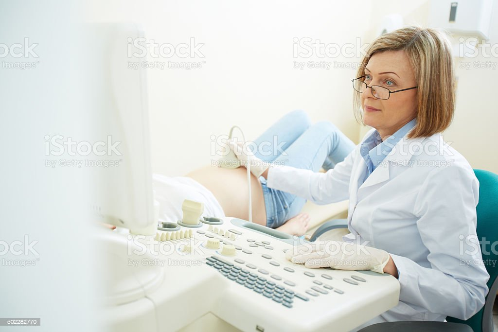 Ultrasound treatment stock photo