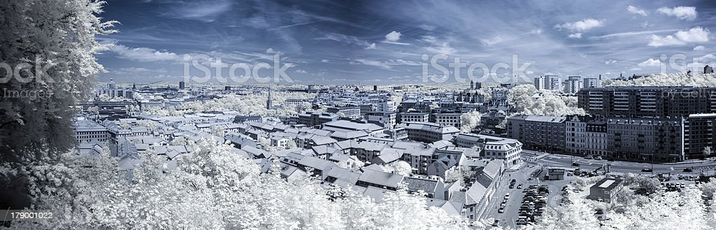 Ultraviolet cityscape royalty-free stock photo