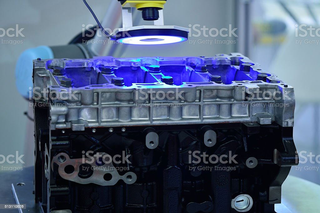 Ultraviolet Light Sensor Scanning stock photo