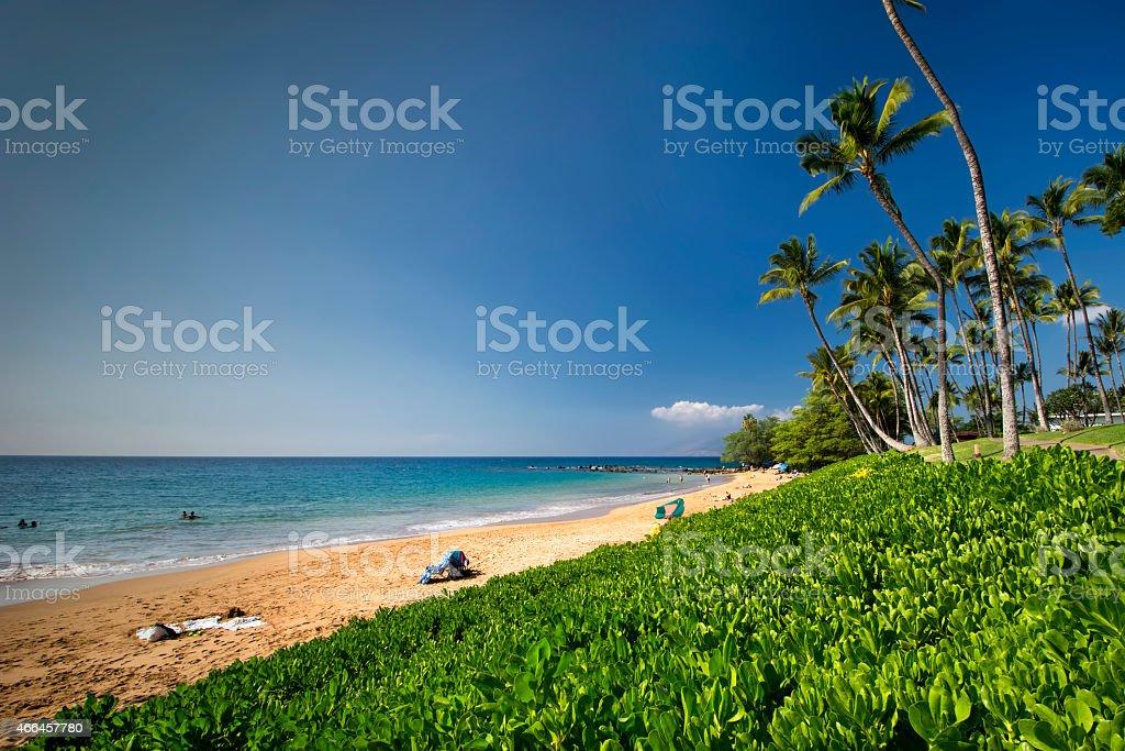 Ulua Beach, south shore of Maui, Hawaii stock photo