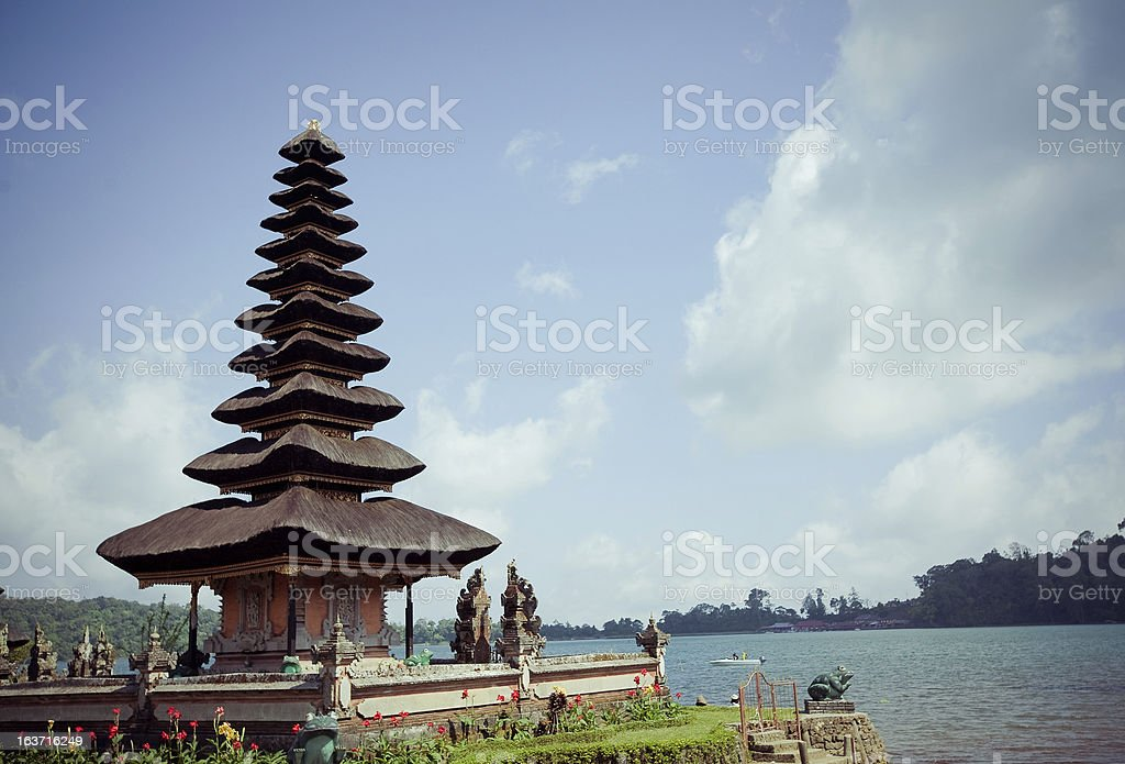 Ulun Danu temple  in Bali Indonesia royalty-free stock photo