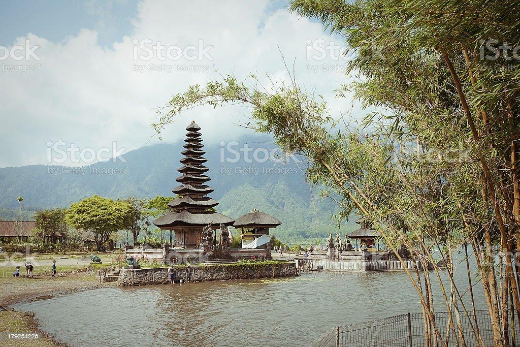 Ulun Danu temple  in Bali Indonesia royalty-free stock photo