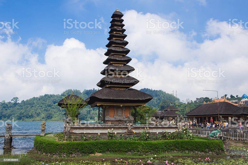 Pura Ulun Danu on a lake Beratan. Bali, Indonesia stock photo