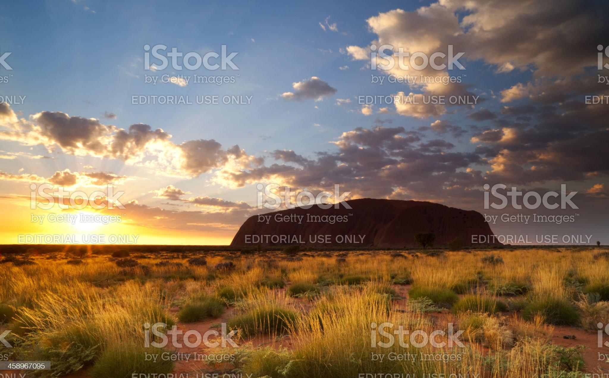 Uluru At Dawn royalty-free stock photo