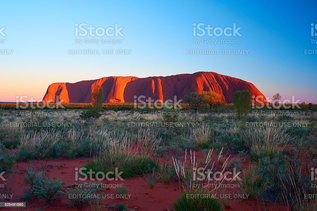 Uluru At Dawn stock photo