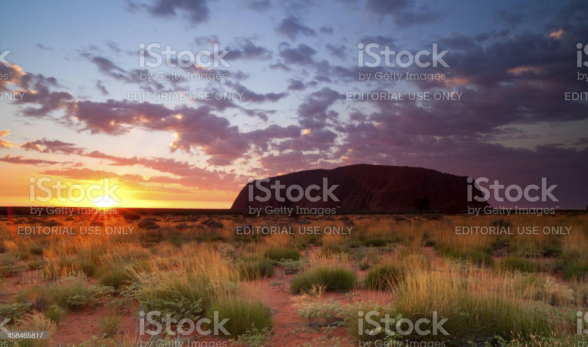 Uluru At Sunrise royalty-free stock photo