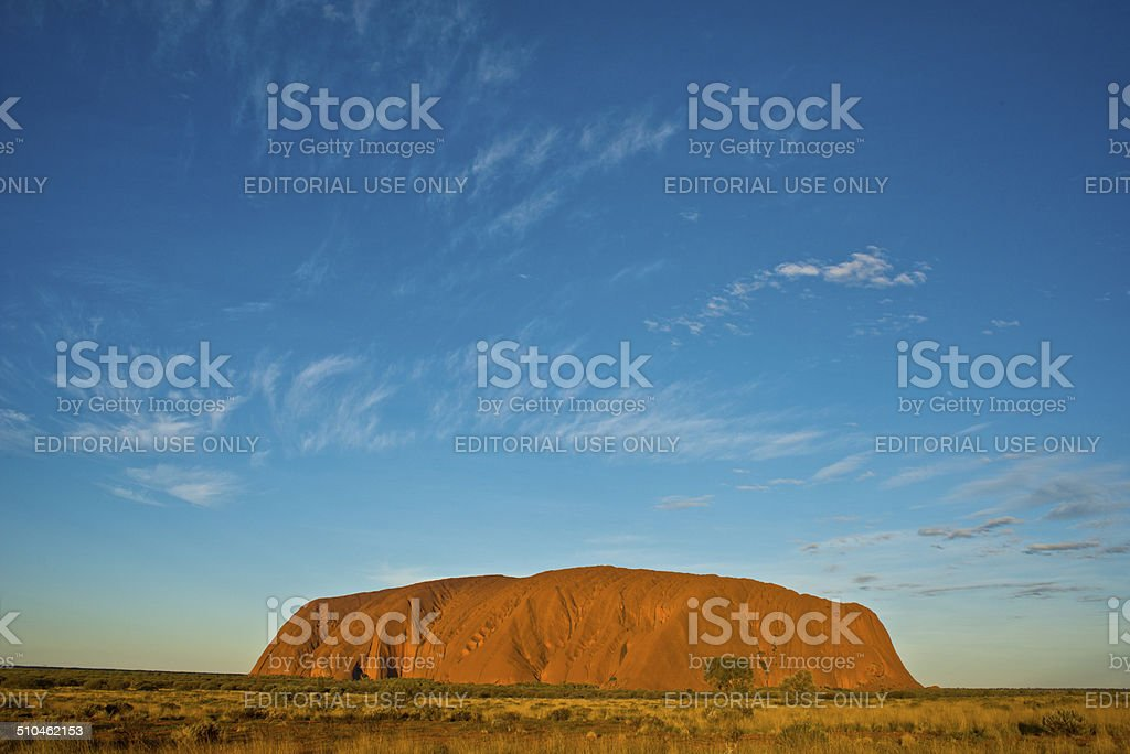 Uluru at Sunset stock photo