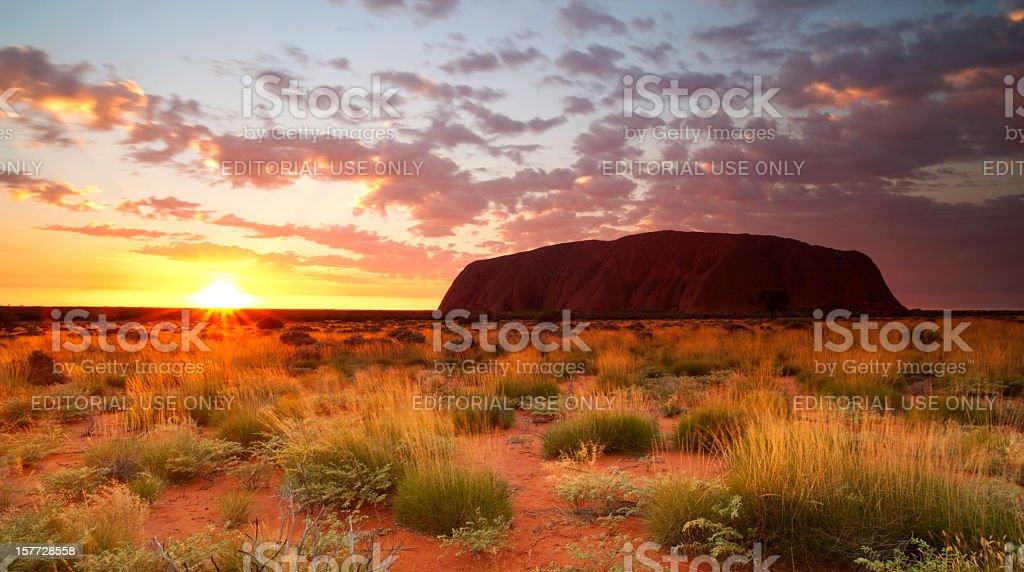Uluru Dawn Northern Territory stock photo