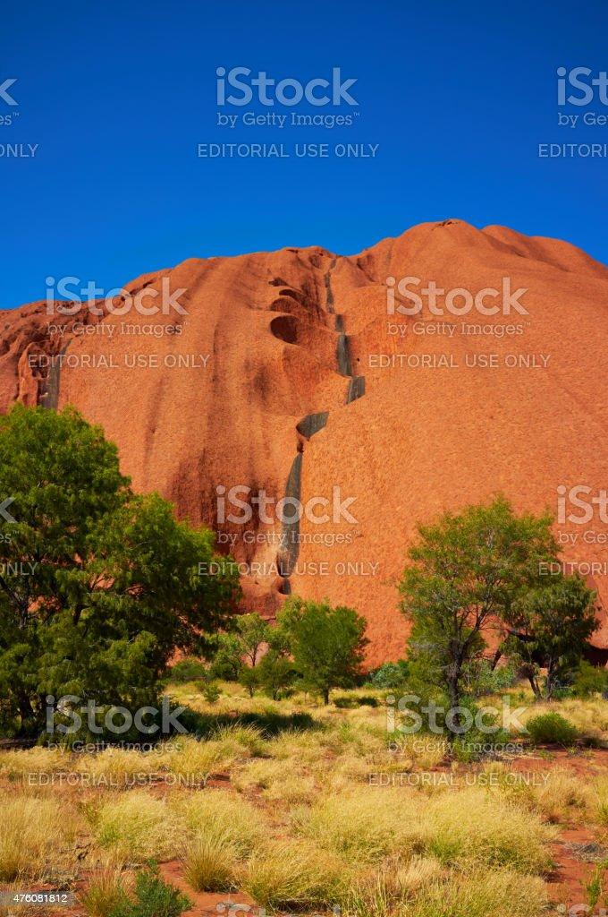 Uluru In The Sun stock photo