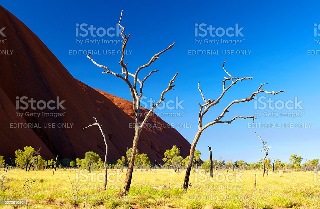 Uluru Landscape Scenic stock photo