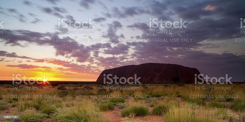 Uluru Sunrise royalty-free stock photo