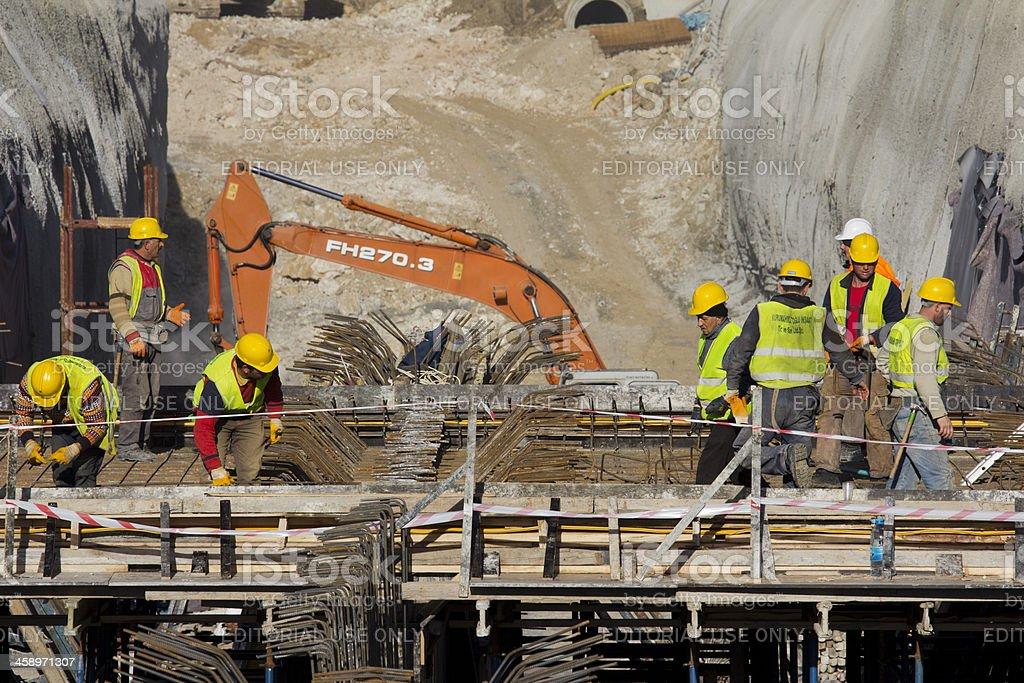 Ulus-Kecioren Underground Construction Site at Ankara royalty-free stock photo