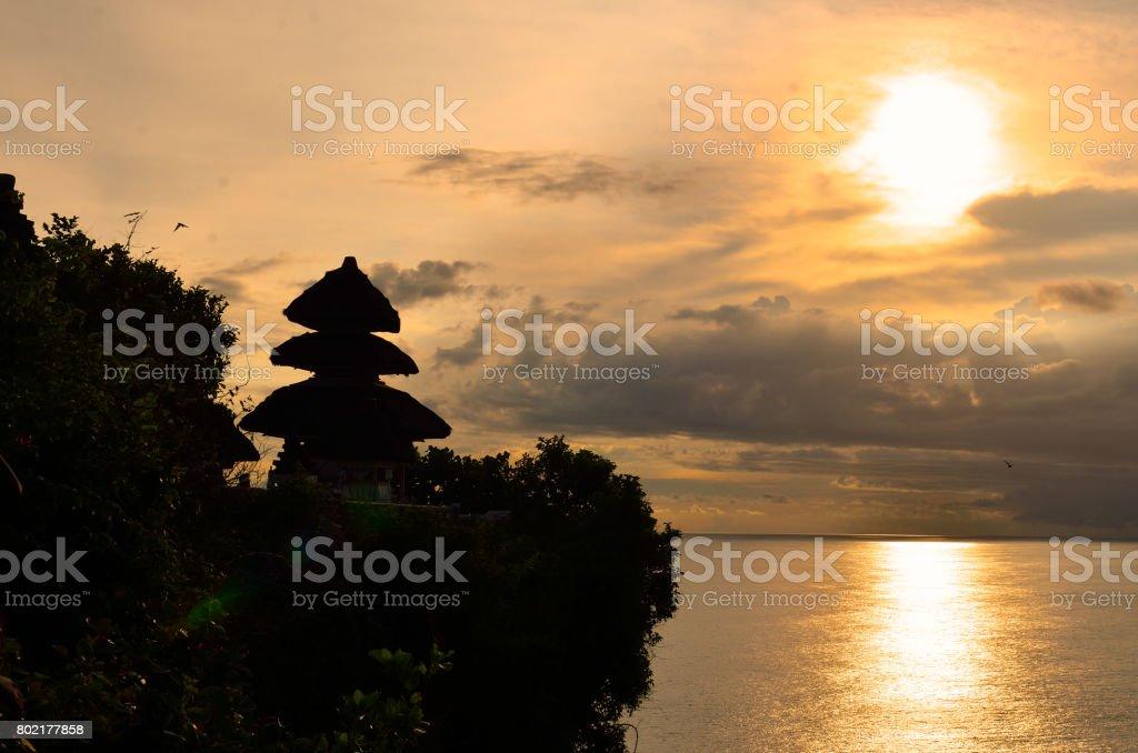 Uluwatu temple, Bali, Indonesia. stock photo