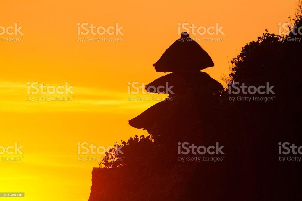 Uluwatu temple stock photo