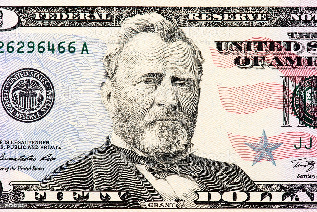Ulysses S. Grant stock photo