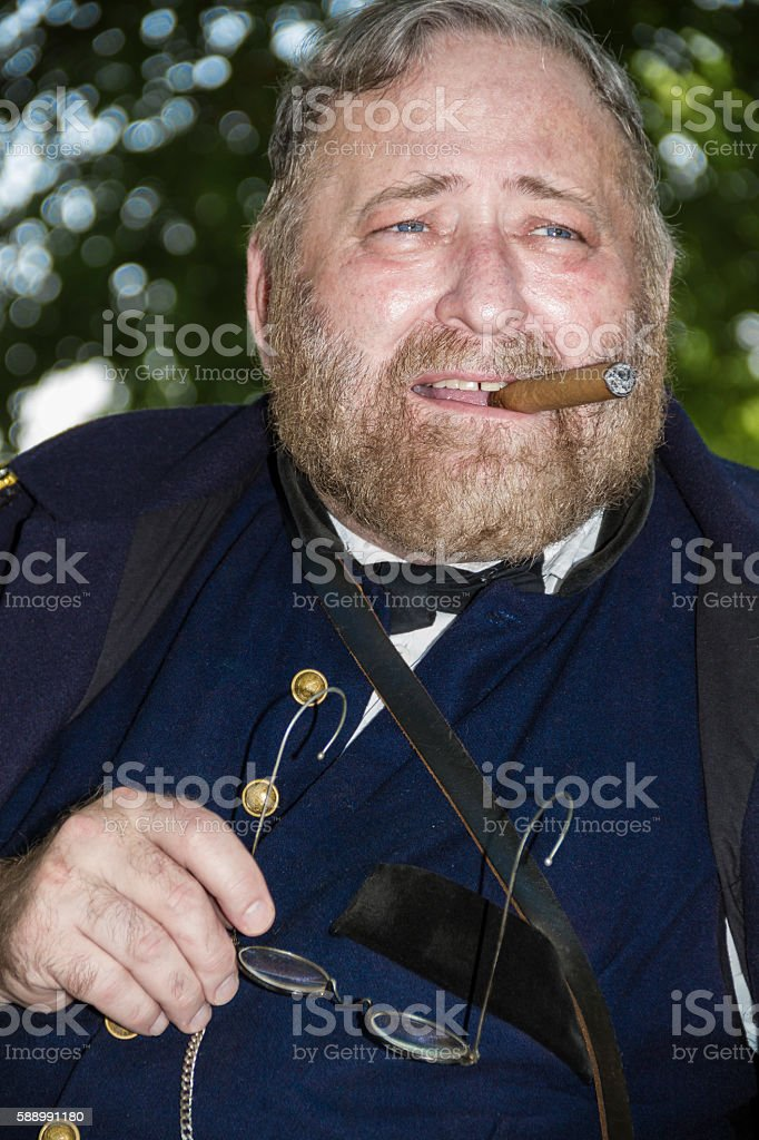 Ulysses S. Grant, Union General and American President stock photo