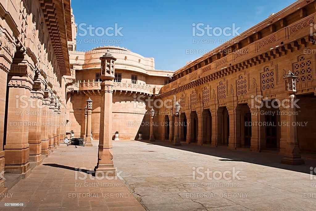 Umaid Bhawan palace hotel en Jodhpur in Rajasthan, Inde photo libre de droits