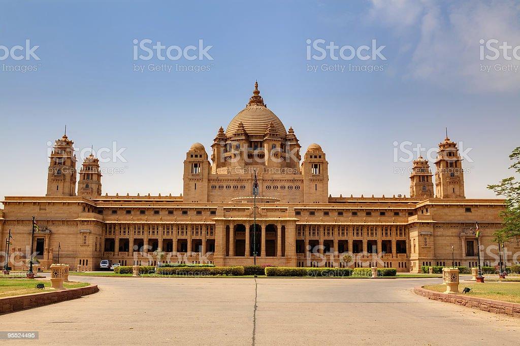 Umaid Bhawan palace jodhpur stock photo