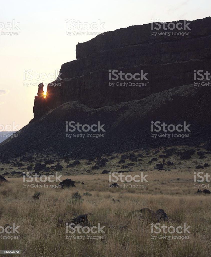 Umatilla Rock Spire Sunset stock photo