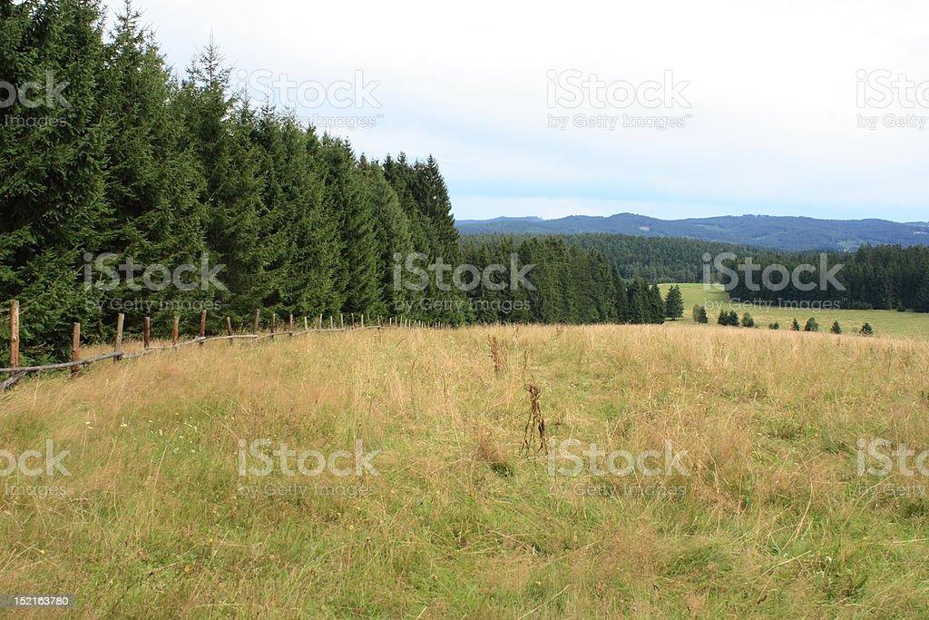 Šumava mountains, Czech Republic royalty-free stock photo
