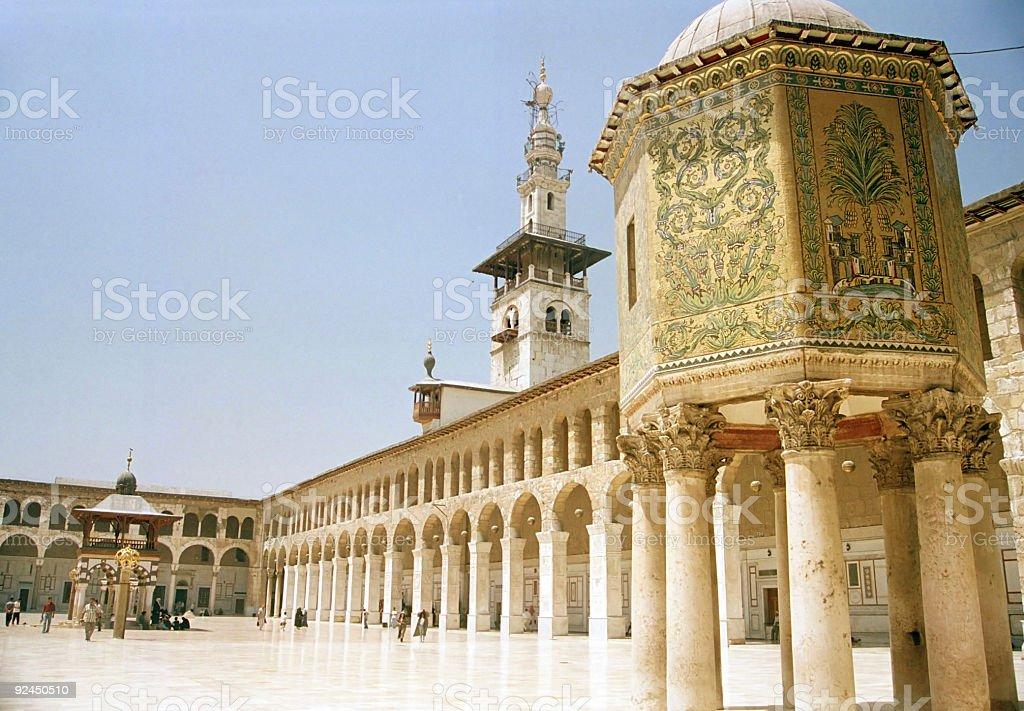 Umayyad Grand Mosque Damascus Syria stock photo