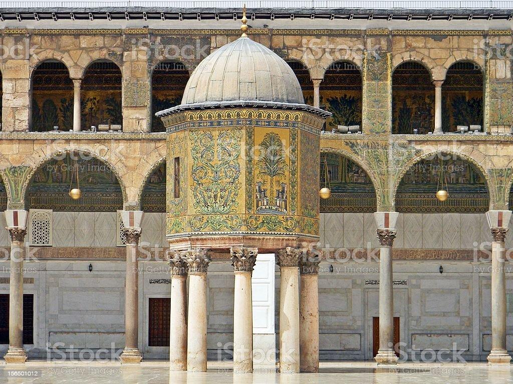 Umayyad Mosque - Damascus royalty-free stock photo