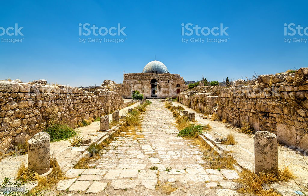 Umayyad Palace at the Amman Citadel stock photo