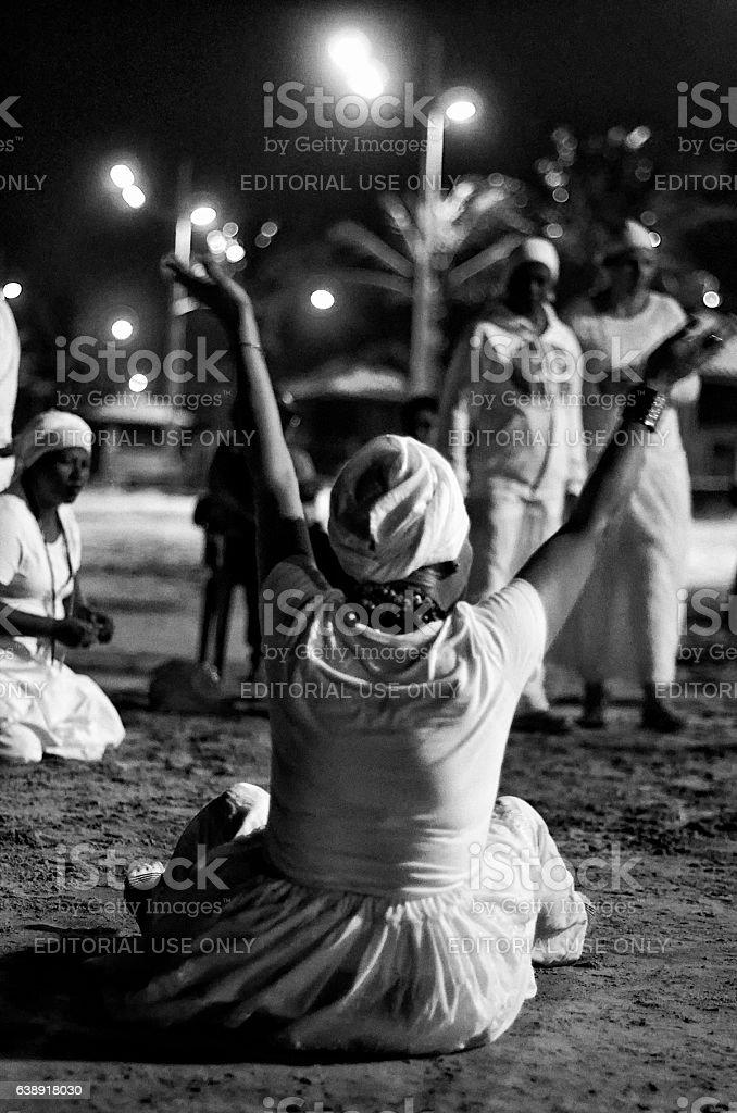 Umbanda Priestess stock photo