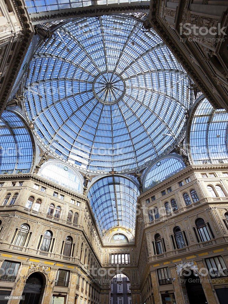 Umberto I gallery in Naples royalty-free stock photo