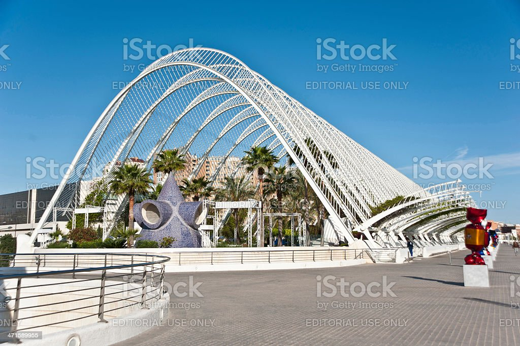Umbracle in Valencia,Spain. royalty-free stock photo