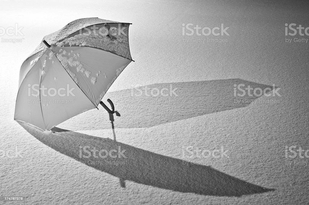 Umbrella and Snow royalty-free stock photo