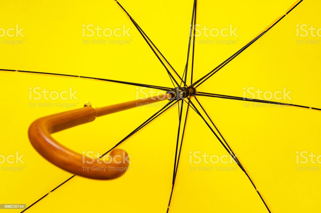 Umbrella, bottom view, background stock photo