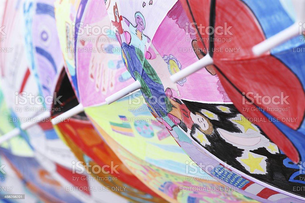 Umbrella Child Art Hait Fundraiser royalty-free stock photo