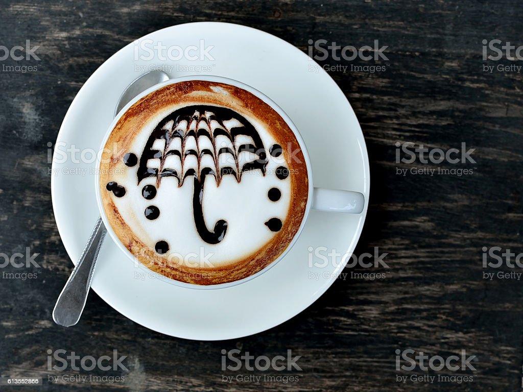 Umbrella coffee stock photo