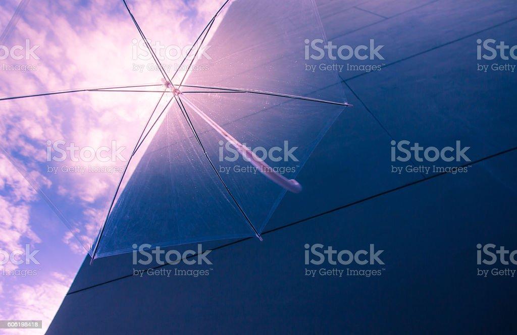 Umbrella flying stock photo