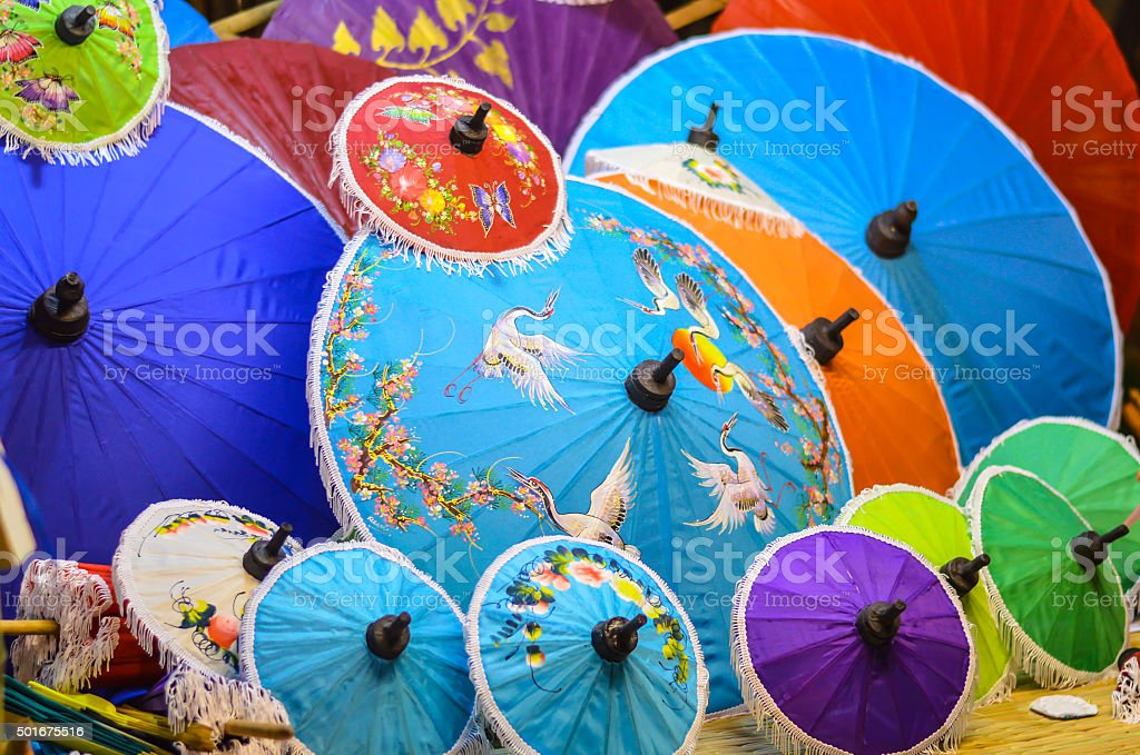 umbrella handmade stock photo