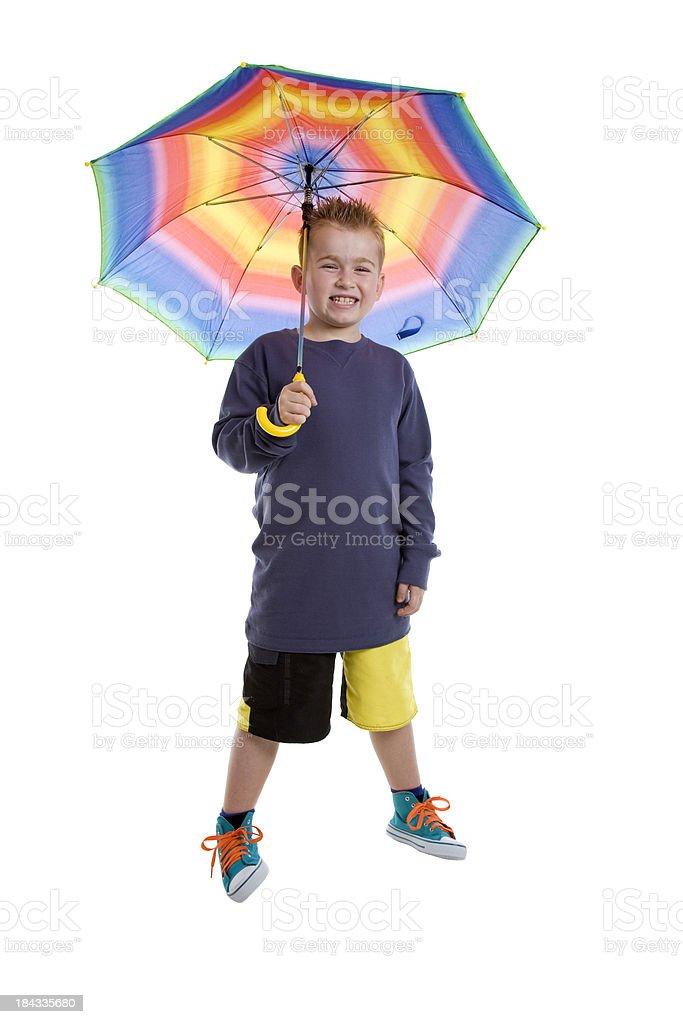 Umbrella Happy Boy stock photo